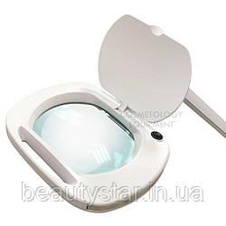 Лампа лупа на струбцині з LED підсвічуванням (холодне світло) 6030 Led (5 діоптрії 12W) для косметології