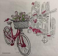 Салфетка с велосипедом (33*33 см.)