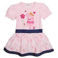 Детское розовое платье со Свинкой Пеппой