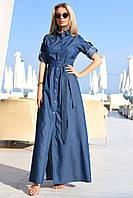 Платье в пол / джинс-котон / Украина 19-8060, фото 1