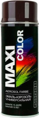 Краска MAXI COLOR RAL8017 коричнево-шоколадная в аэрозоле 400мл