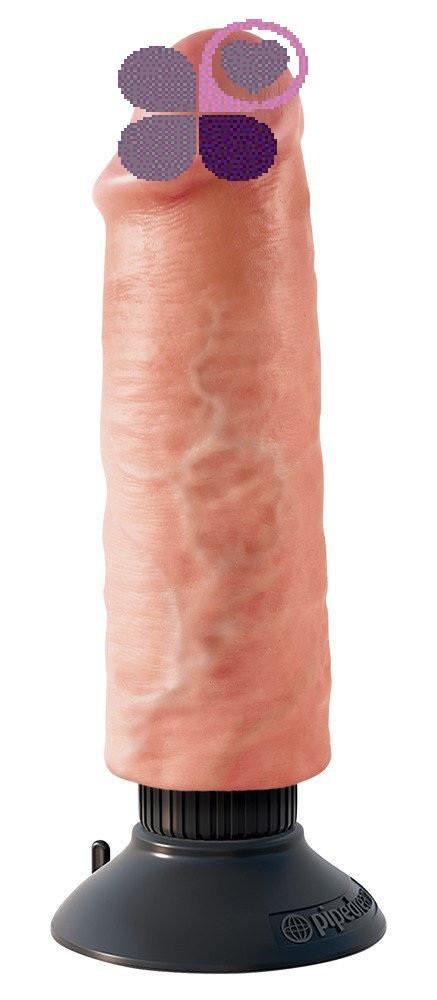 Вибратор 15,5 см со съёмной присоской