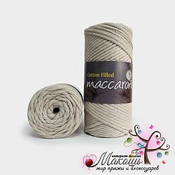 Хлопковый шнур Maccaroni Cotton Filled 3 мм, №603, лен