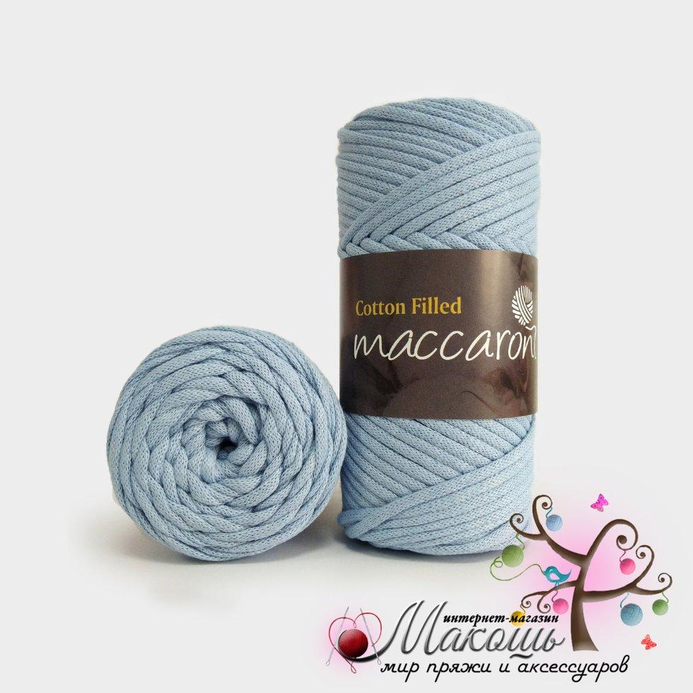 хлопковый шнур Maccaroni Cotton Filled 3 мм 630 голубой в
