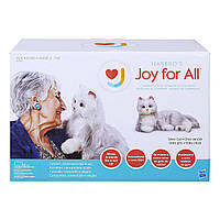 Hasbro Joy for All (JFA) Silver Cat with White Mitts Companion Pets Ages 5-105 (B7594)