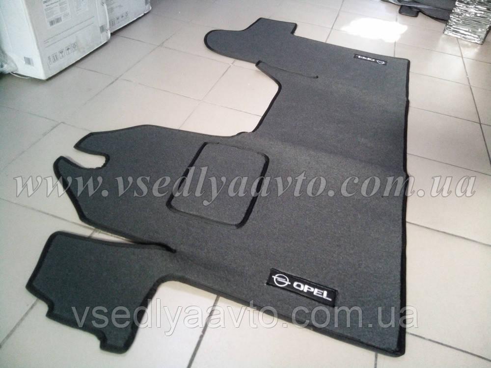 Ворсовые коврики в салон Opel Movano с 2003-2008 гг. (Серый)