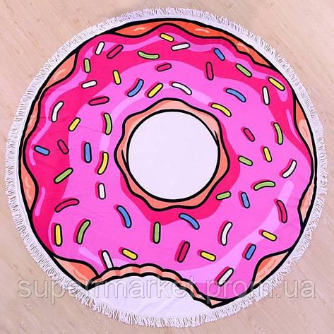 Пляжное полотенце круглое Пончик, 150см, фото 2