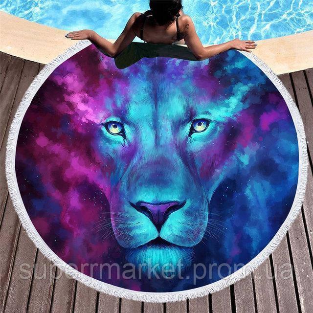 Пляжное полотенце круглое Лев, 150см