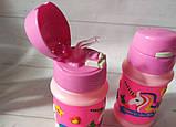 Бутылка детская единорог для воды 380мл, фото 5