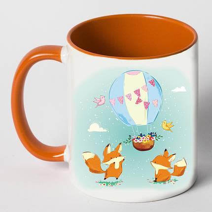 """Чашка """"Лисы играют с воздушным шаром"""", фото 2"""