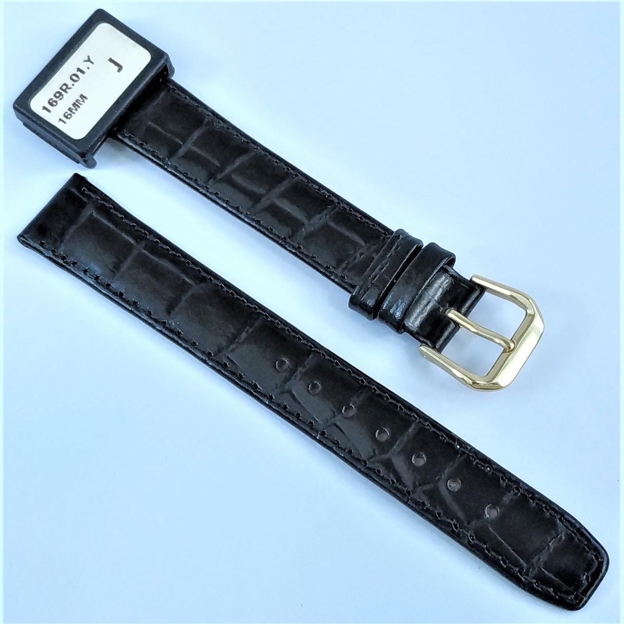 16 мм Кожаный Ремешок для часов CONDOR 169.16.01 Черный Ремешок на часы из Натуральной кожи