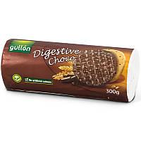 Вегетарианское без красителей Печенье  злаковое с шоколадом Digestive Choco  Gullon 300г  Испания