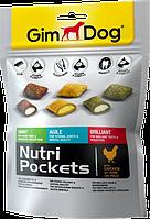 Лакомства GimDog Nutri Pockets Mix для собак, микс из трех вкусов, 150г