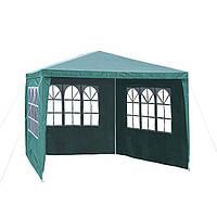 Садовый павильон шатер 3х3 с 3 стенками+окна зелений) Everyday