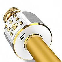 Микрофон беспроводной для караоке Hoco BK3 Cool sound KTV Bluetooth microphone (Золотистый), фото 3
