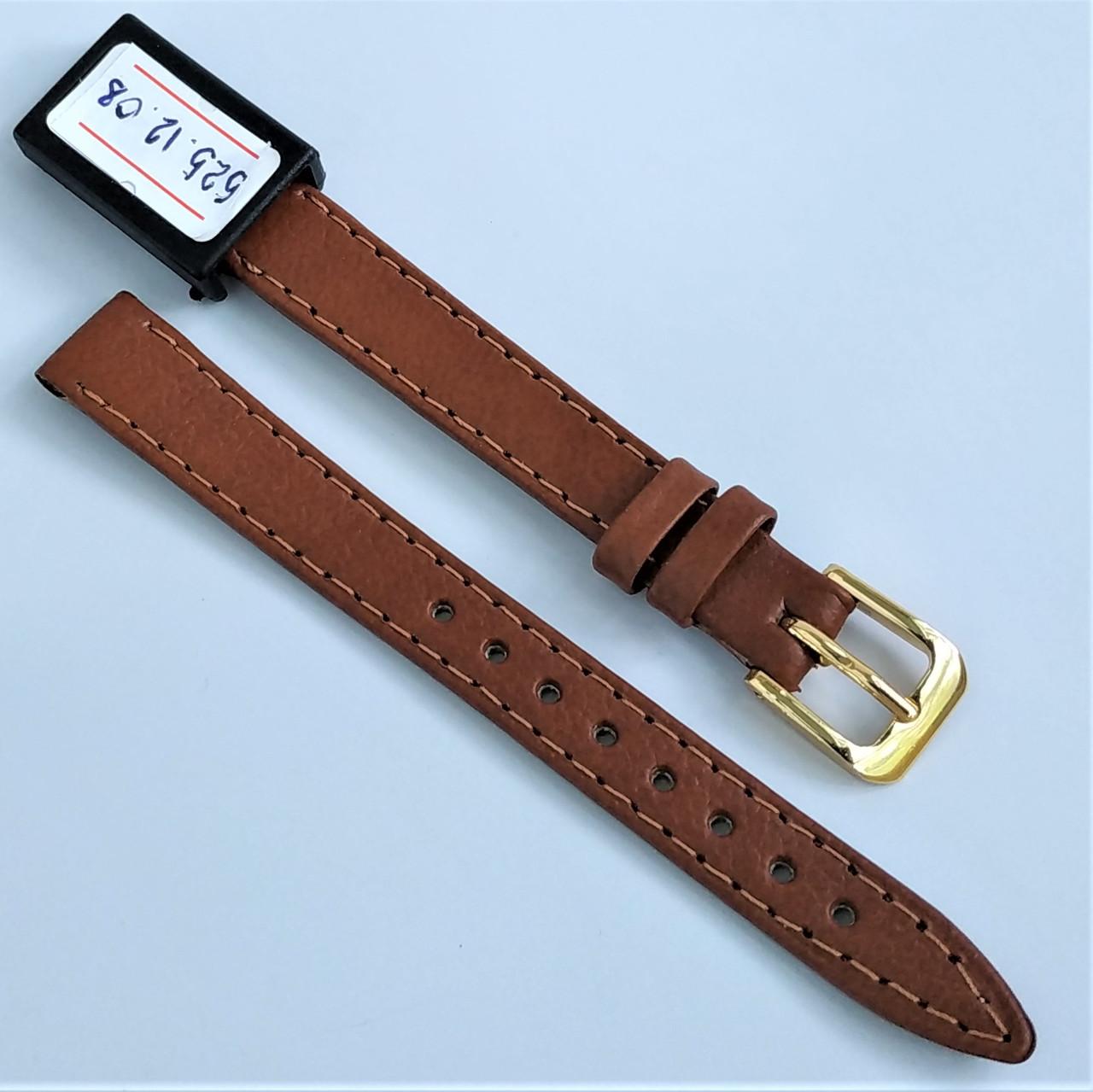 12 мм  Кожаный Ремешок для часов CONDOR 525.12.08 Коричневый Ремешок на часы из Натуральной кожи
