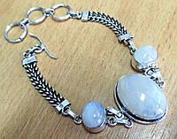"""Нежный браслет с натуральным лунным камнем  """"Триптих-1""""  от студии  LadyStyle.Biz, фото 1"""