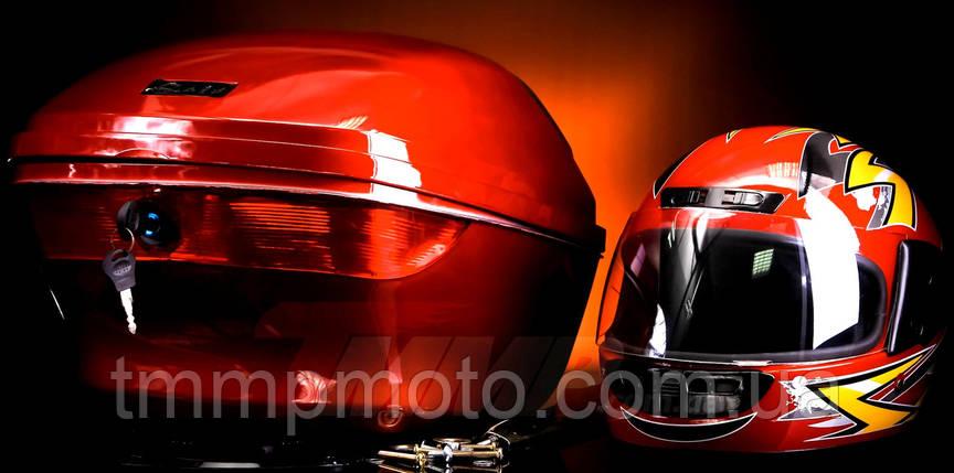 Кофра большая красная с шлемом, фото 2