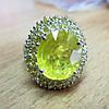 """Яркий перстень """"Лимонный"""" с желтыми  сапфирами , размер 18.4  студия LadyStyle.Biz"""