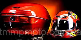 Кофра большая красная с шлемом