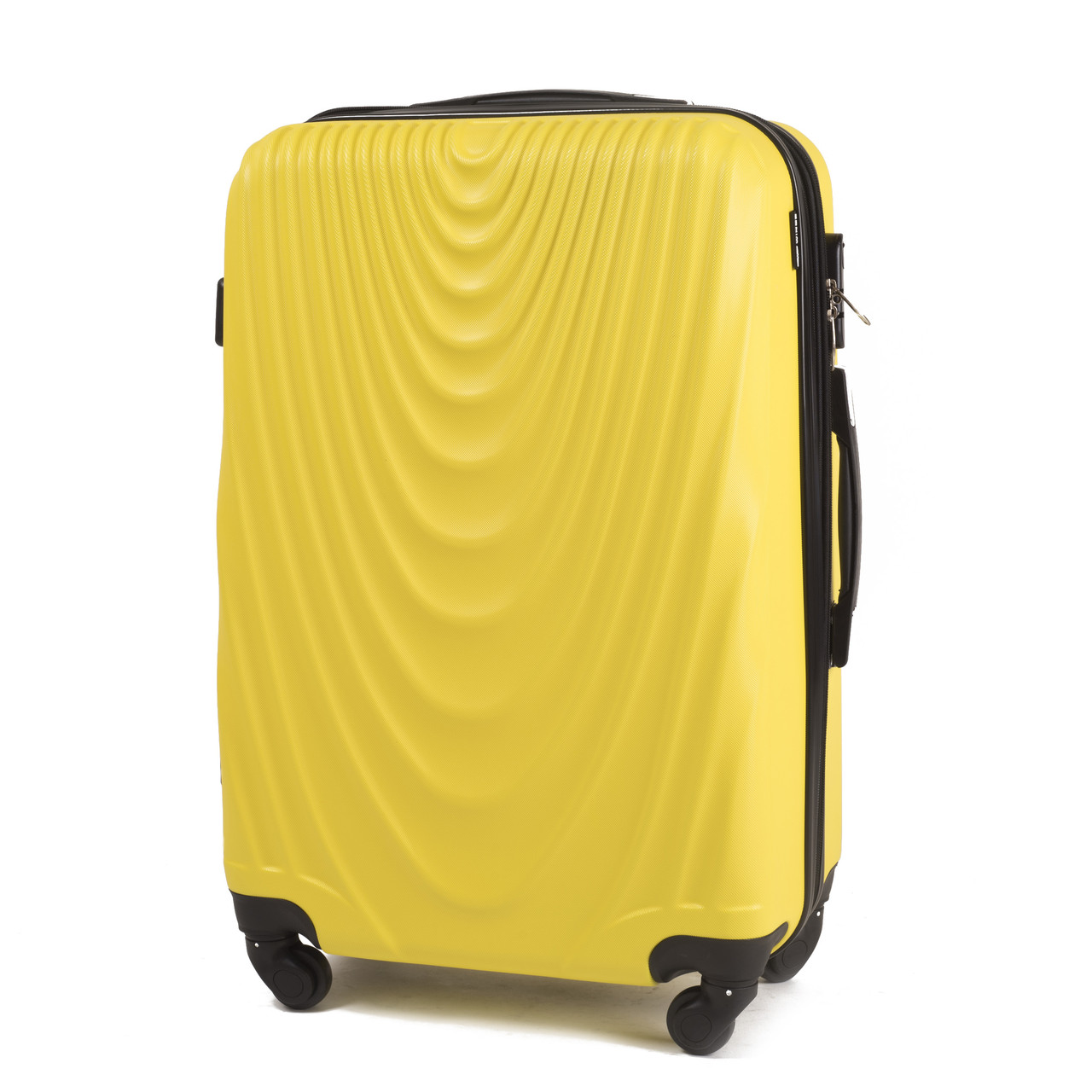 Чемодан Wings 305 пластиковый Средний (M) Желтый