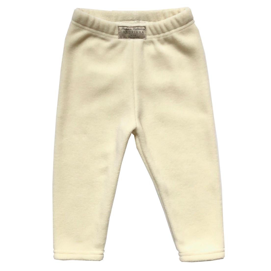 Теплые флисовые штанишки Andriana Kids для девочки молочные (98 размер)