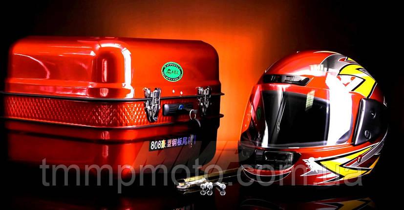 Кофра Дельта железная красная c шлемом, фото 2