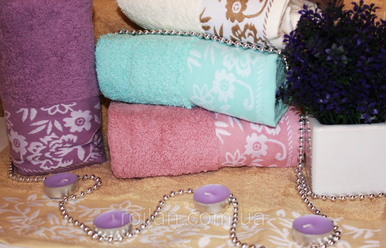 Метровые турецкие полотенца Febo Цветочки