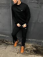 Зимний спортивный костюм Nike без капюшона (Черный)