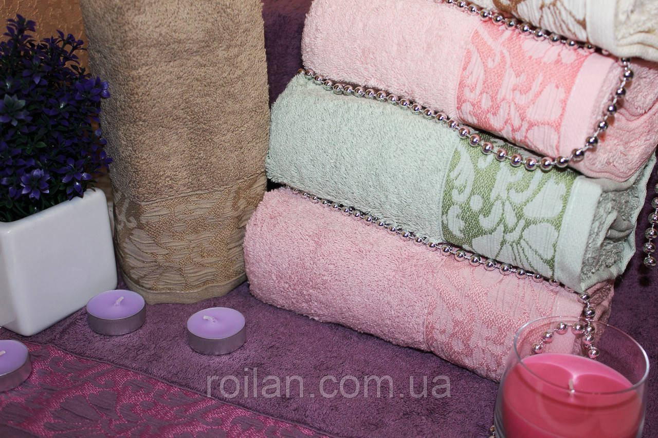 Метровые турецкие полотенца Febo Пион