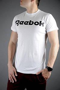 Мужская летняя крутая футболка Reebok (Белый)