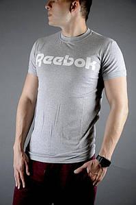 Мужская летняя крутая футболка Reebok (Серый)