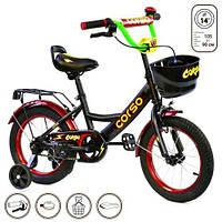 """Велосипед 2-х колёсный """"Corso"""" 14"""" (черный) G-14370"""