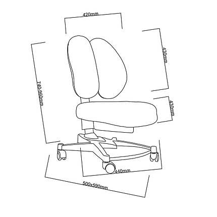 Подростковая парта для школы FunDesk Amare II Grey + ортопедическое кресло FunDesk Contento Grey, фото 2