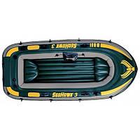 Надувная трехместная лодка Intex 68349 Seahawk 3 295х137x43см
