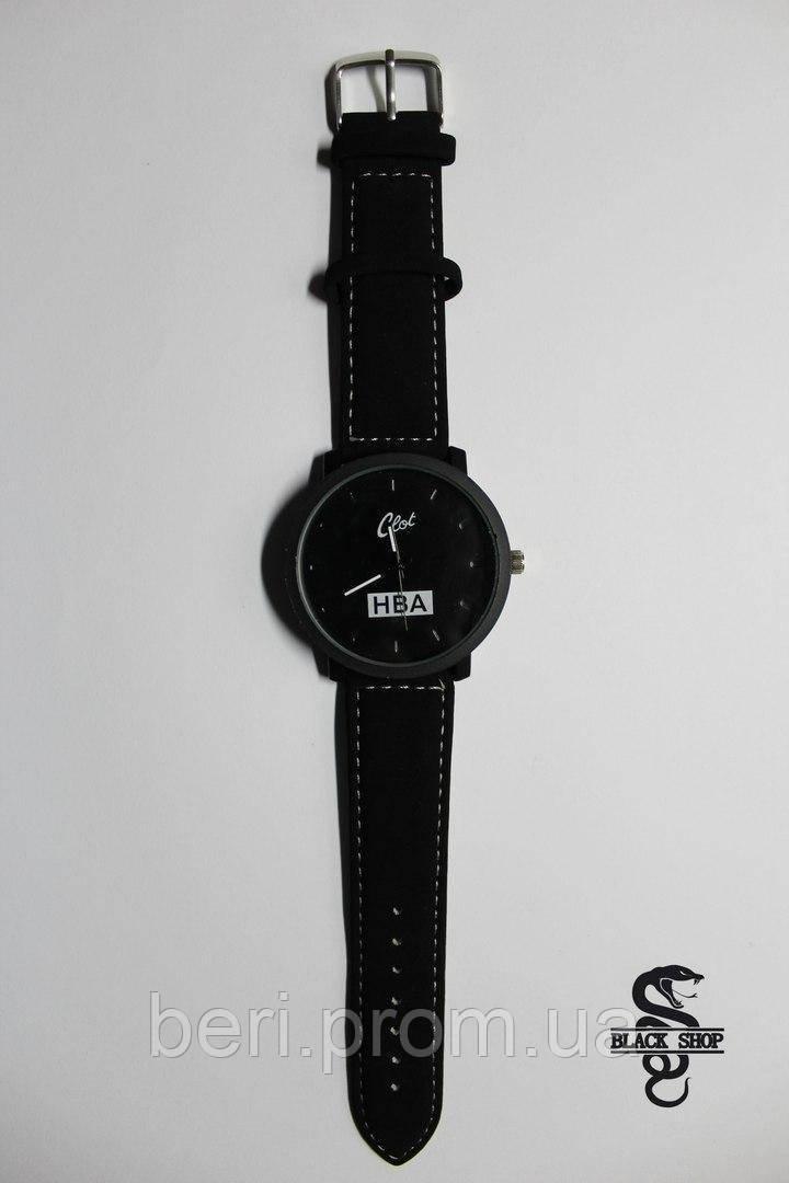 Мужские Наручные Кварцевые Часы Clot Black HBA. Черный Цвет. Шикарное качество !