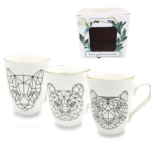 Чашка геометрия животные в подарочной упаковке 350мл. SNT 053-350-12