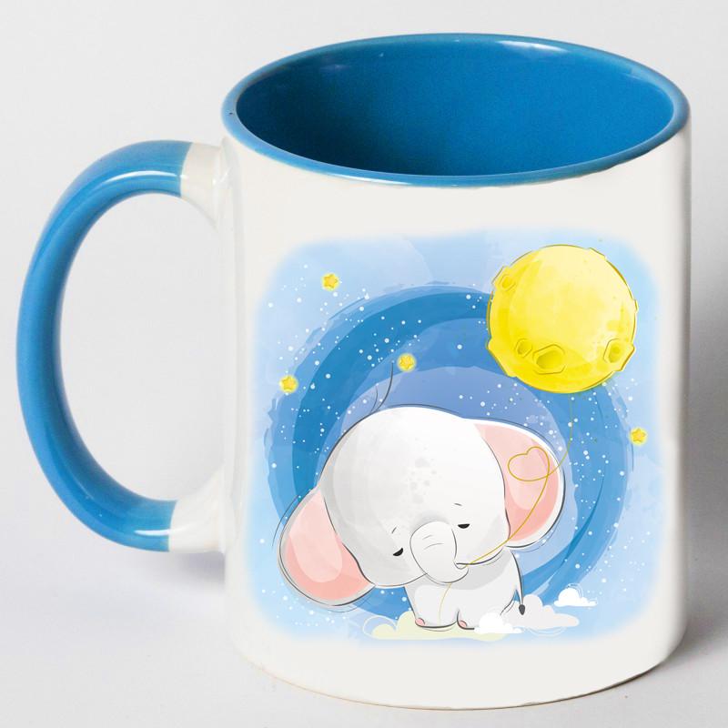 """Чашка """"Слон і місяць"""""""