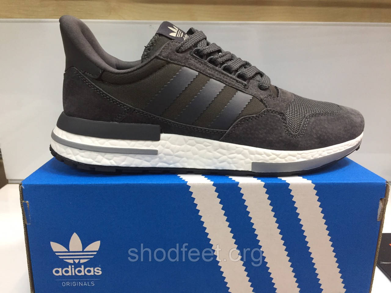 Мужские кроссовки Adidas ZX 500 RM Grey White
