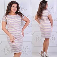 Женское стильное платье макраме №072 (р.48-62) в расцветках, фото 1