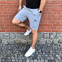 Мужские спортивные повседневны шорты Jordan  | Джордан | Чоловічі шорти спортивні Джордан (Светло-Серые)