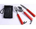 Туристический набор 3в1 Ложка, Вилка, Нож N-8003, фото 3