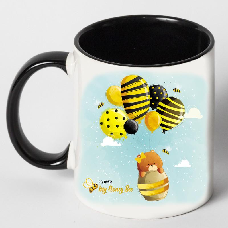 """Чашка """"Медведь с осой"""""""