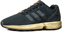 Жіночі кросівки AD ZX Flux Black/Gold . ТОП Репліка ААА класу., фото 1