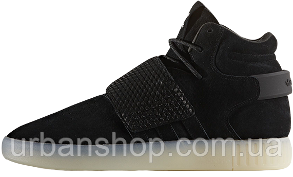 Чоловічі кросівки AD Tubular Invader Strap Shoes Black Ice White. ТОП Репліка ААА класу.