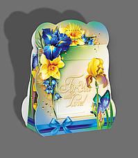 Картонная подарочная упаковка Сумочка  - Гортензия, 400г, фото 2