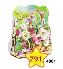 Картонная подарочная упаковка Сумочка  - Гортензия, 400г, фото 3