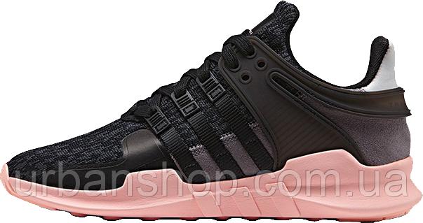 Жіночі кросівки AD EQT Support ADV Black Pink. ТОП Репліка ААА класу.