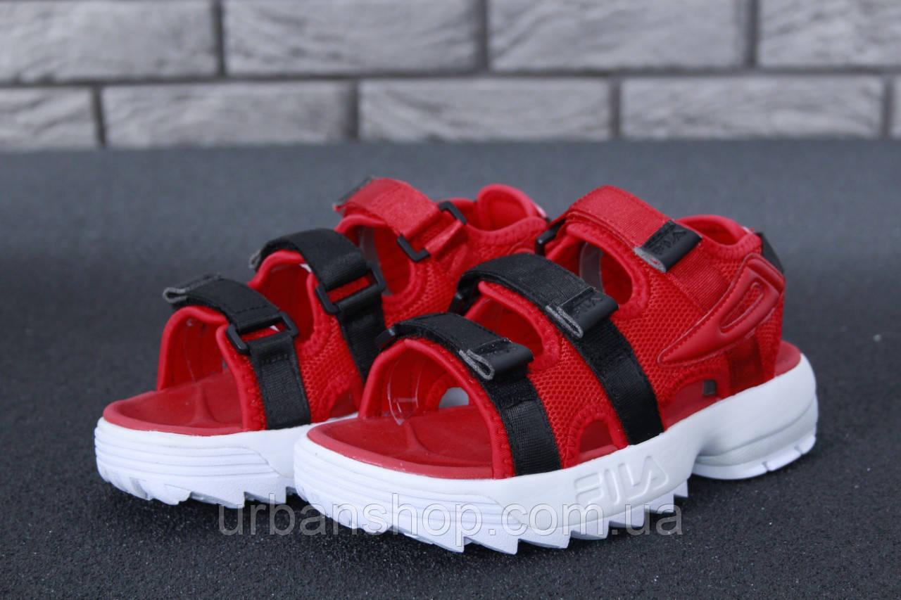 FILA Disruptor Sandals red, Сандалії Філа. ТОП Репліка ААА класу.