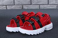FILA Disruptor Sandals red, Сандалії Філа. ТОП Репліка ААА класу., фото 1